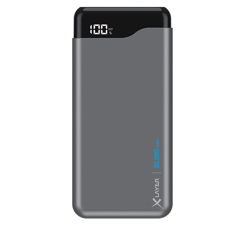 XLAYER POWERBANK MICRO PRO 20.000 MAH SPACE GRAY
