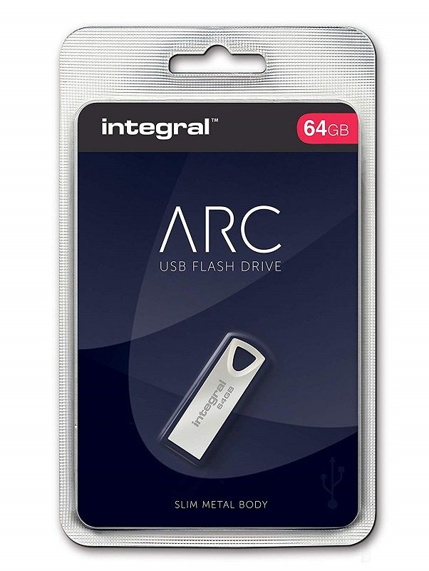 INTEGRAL ARC FÉMHÁZAS USB 2.0 PENDRIVE 64GB