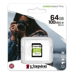 KINGSTON CANVAS SELECT PLUS SDXC 64GB CLASS 10 UHS-I U1 V10 100/10 MB/S