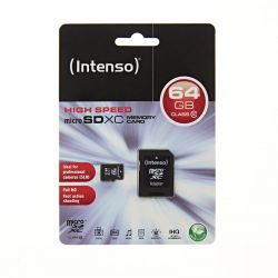 INTENSO MICRO SDXC 64GB + ADAPTER CLASS 10