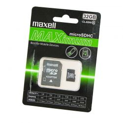 Maxell MAXIMUM MICRO SDHC 32GB + ADAPTER CLASS 10