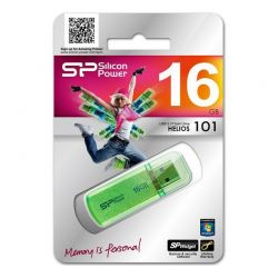 Silicon Power HELIOS 101 USB 2.0 PENDRIVE 16GB ZÖLD
